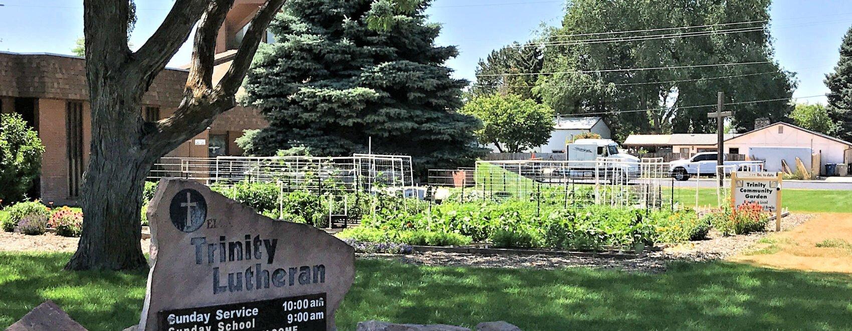 trinity sign and garden
